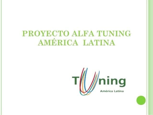 PROYECTO ALFA TUNING AMÉRICA LATINA