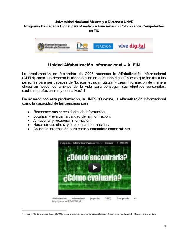 Universidad Nacional Abierta y a Distancia UNAD Programa Ciudadanía Digital para Maestros y Funcionarios Colombianos Compe...