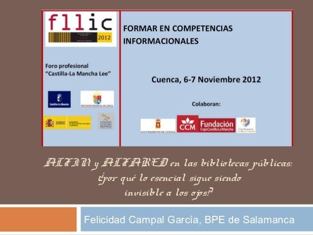 Alfin visible Feria Libro Cuenca 2012 Felicidad Campal