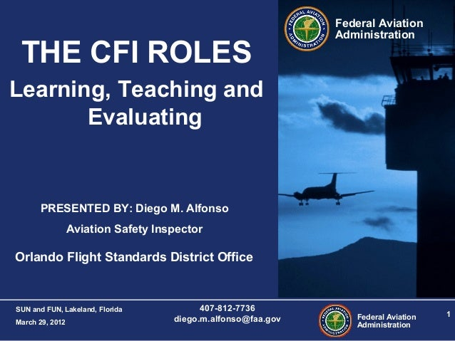 THE CFI ROLES: Learning, Teaching and Evaluating