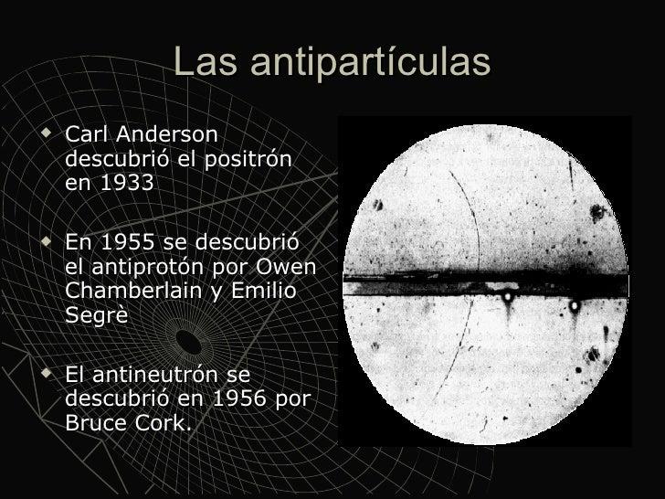 Resultado de imagen de Las antipartículas