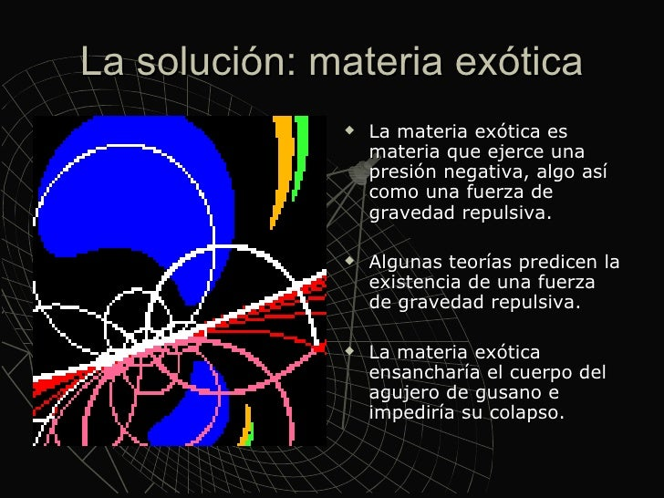 Resultado de imagen de Energía negativa o materia exótica