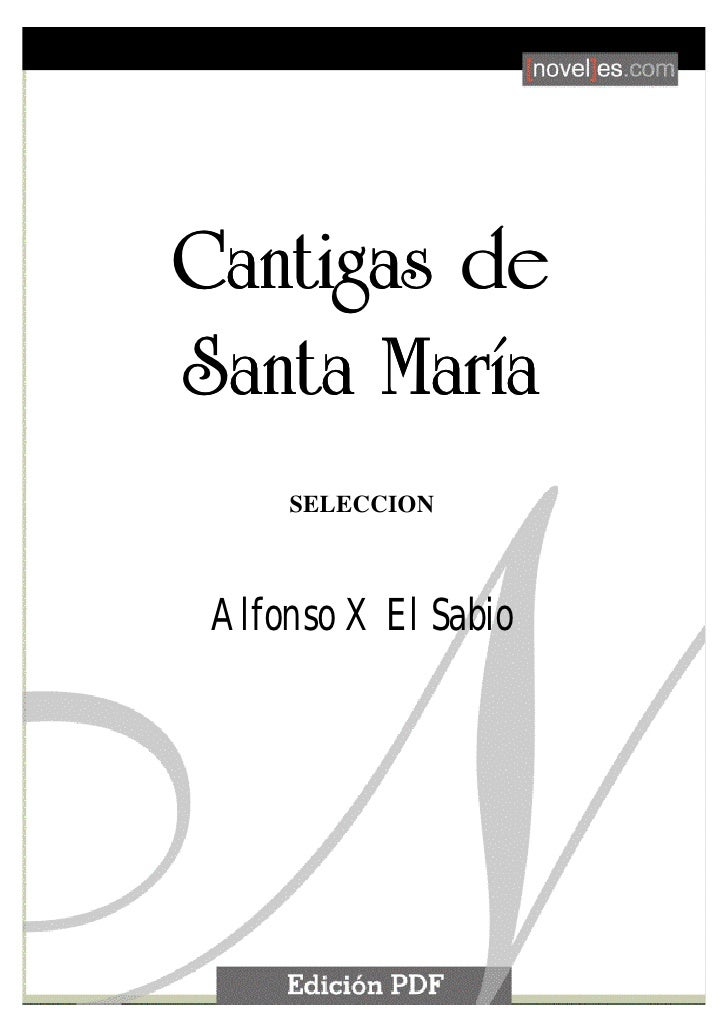 Alfonso X El Sabio   Cantigas De Santa Maria