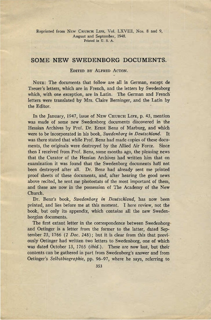 Alfred Acton-SOME-NEW-SWEDENBORG-DOCUMENTS-New-Church-Life-august-and-september-1948
