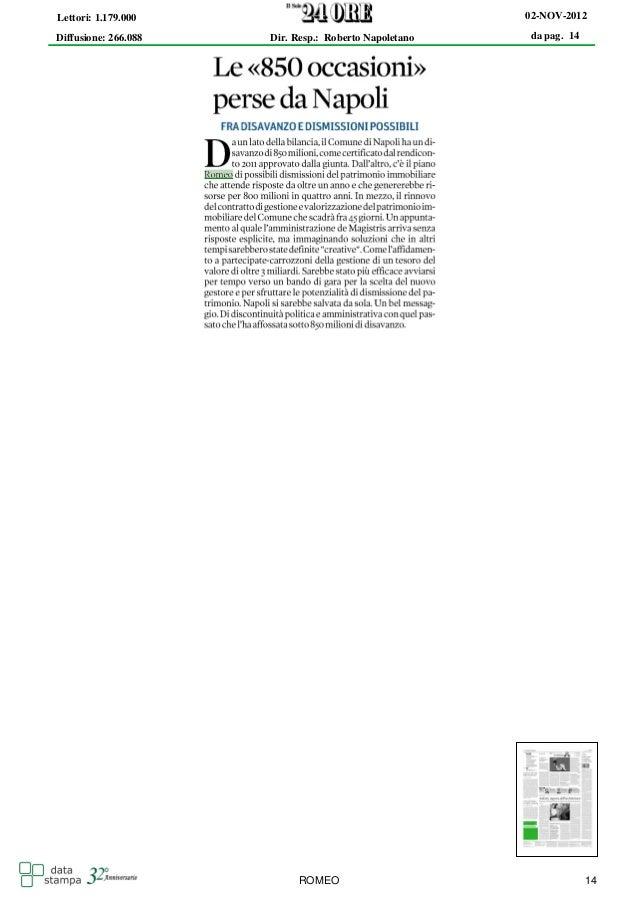 Lettori: 1.179.000                                     02-NOV-2012Diffusione: 266.088   Dir. Resp.: Roberto Napoletano   d...
