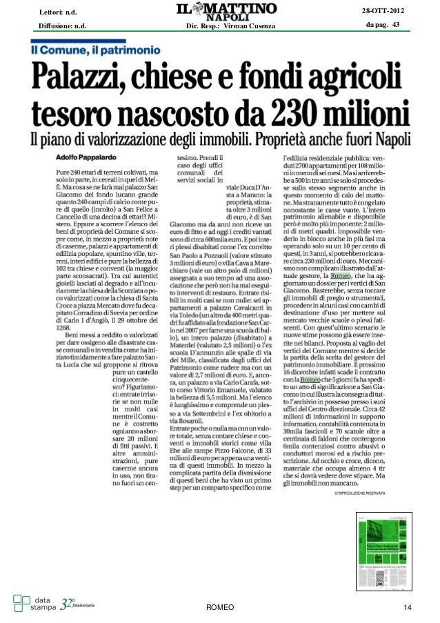 Lettori: n.d.                                   28-OTT-2012Diffusione: n.d.   Dir. Resp.: Virman Cusenza   da pag. 43     ...