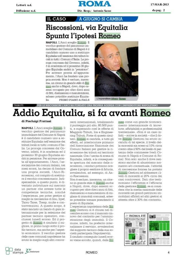 Alfredo Romeo rassegna stampa marzo 2013