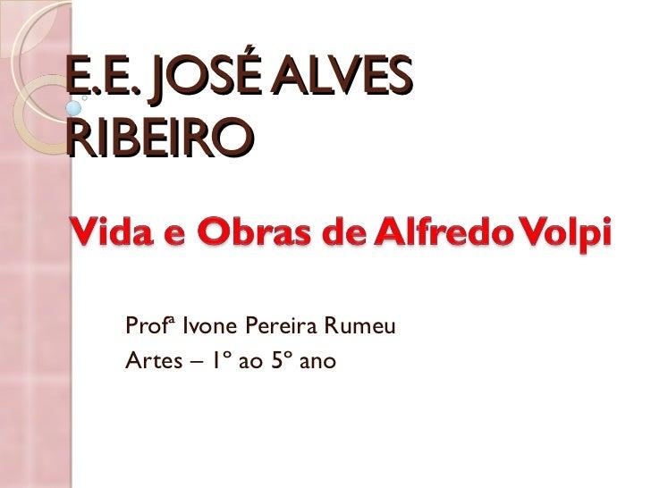 E.E. JOSÉ ALVES RIBEIRO Profª Ivone Pereira Rumeu Artes – 1º ao 5º ano