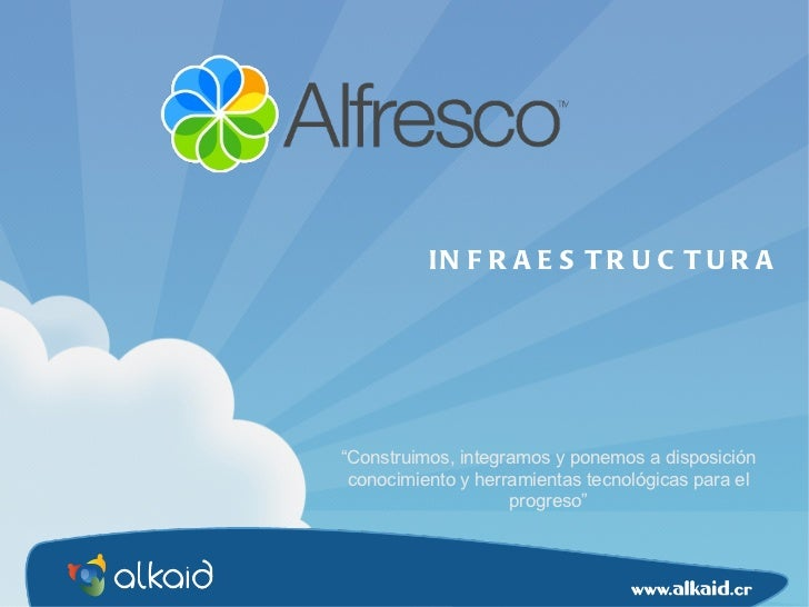 """"""" Construimos, integramos y ponemos a disposición conocimiento y herramientas tecnológicas para el progreso"""" INFRAESTRUCTURA"""
