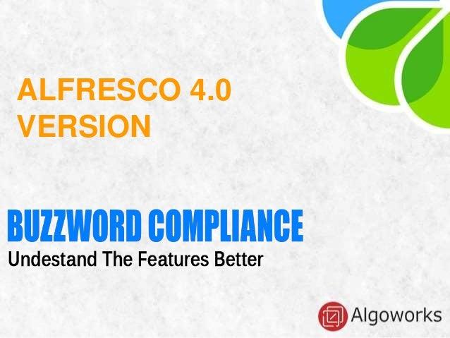 ALFRESCO 4.0 VERSION
