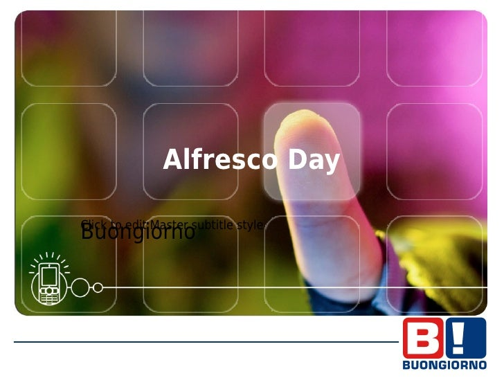 Alfresco day madrid   cliente - buongiorno