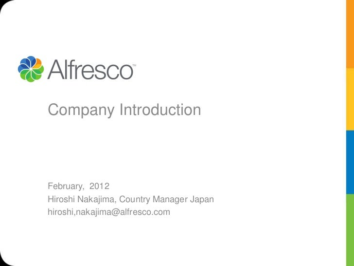 Alfresco feb 2012