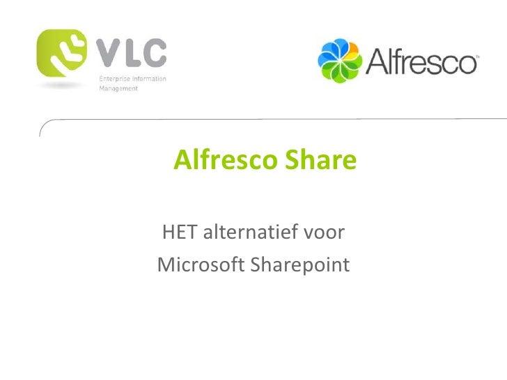 Alfresco Share  HET alternatief voor Microsoft Sharepoint