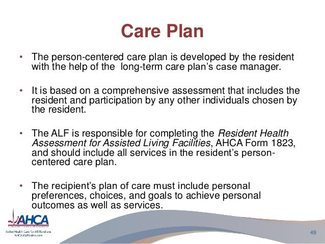 Business plan for assisted living facility