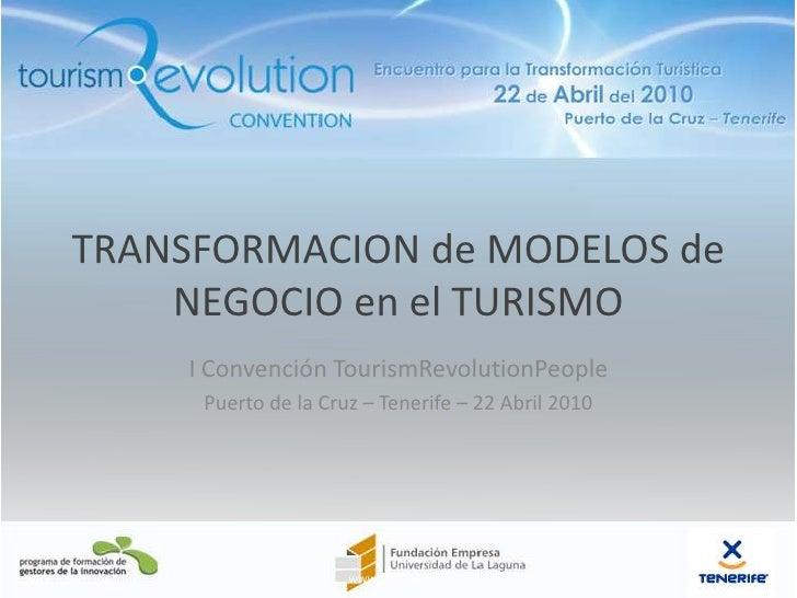Transformación de modelos de negocio en el turismo