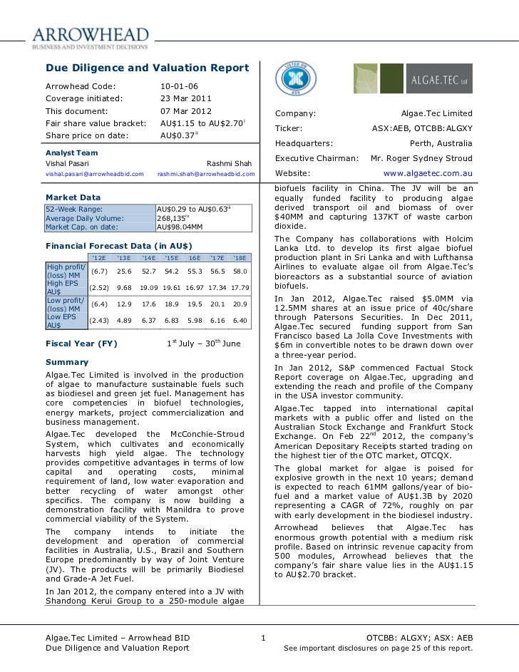 Algae.tec   abid report - 07 mar12