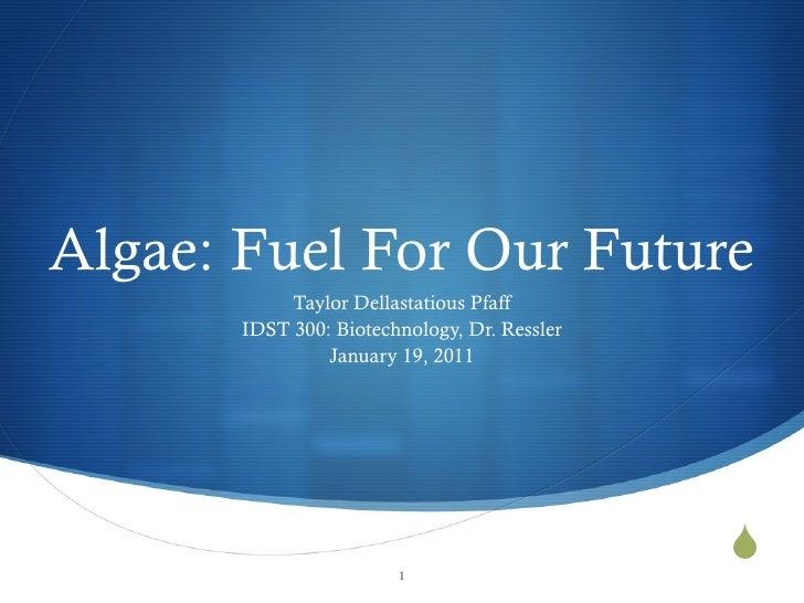 Algal fuels presentation final
