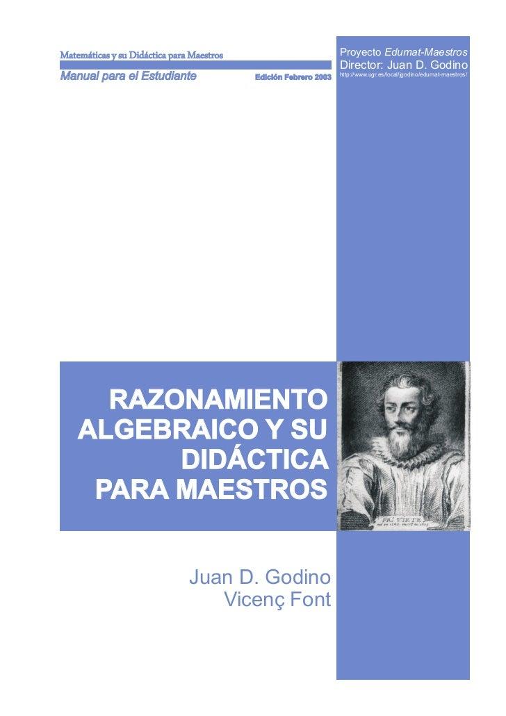 Matemáticas y su Didáctica para Maestros                          Proyecto Edumat-Maestros                                ...