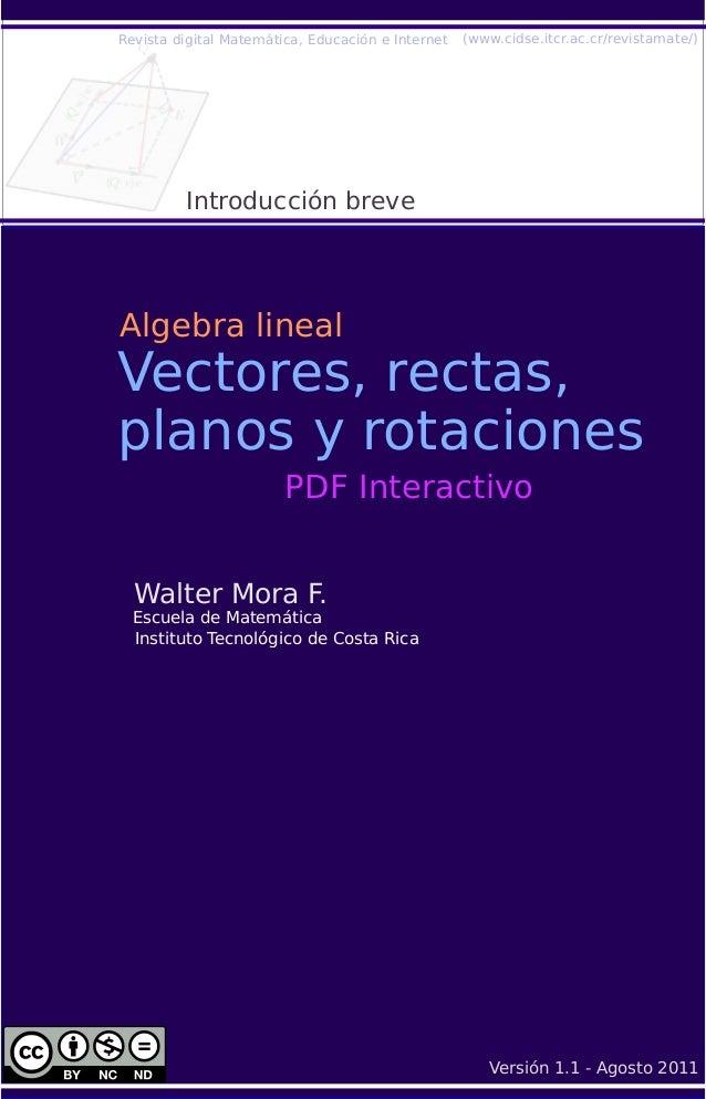 Algebra lineal-vectores-rectas-planos-rotaciones