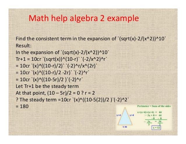Math help algebra 2