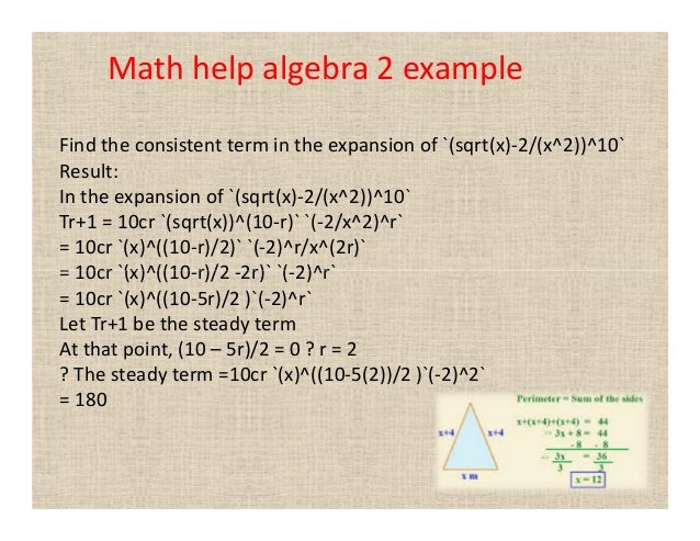 Help on algebra