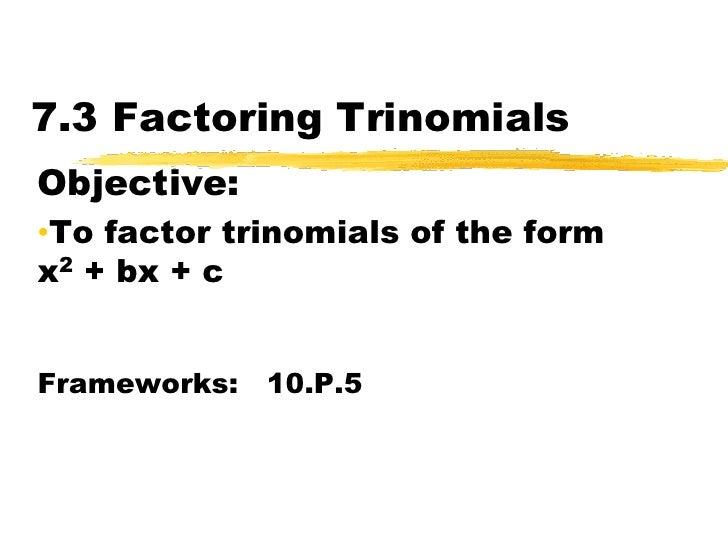 Algebra 7 Point 3