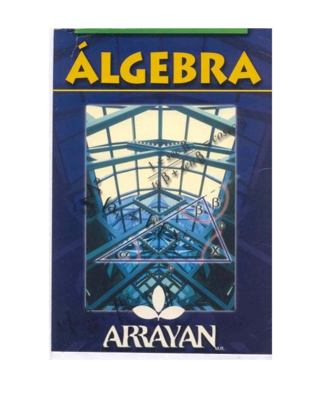 Algebra arrayan
