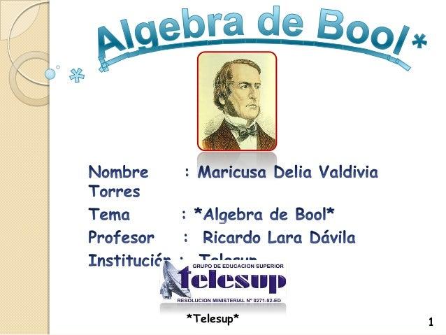 Algebra de bool
