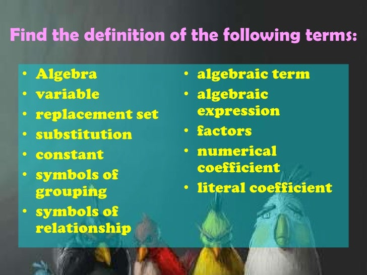 mathematical terminology with pictures This series will give a quick review of mathematical terminology for first year university students who will be taking mathematics this video starts with.