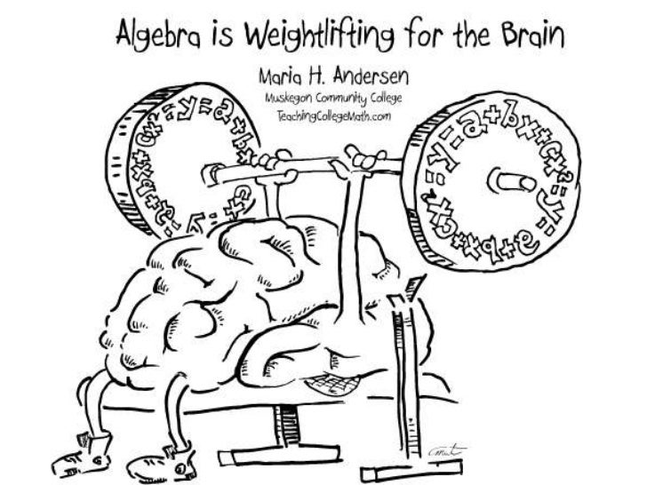 Algebra Is  Weightlifting For The  Brain