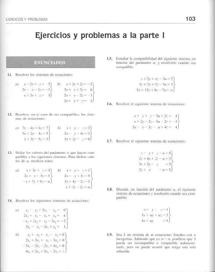 Algebra lineal   juan de burgos - ejercicios propuestos y sus soluciones