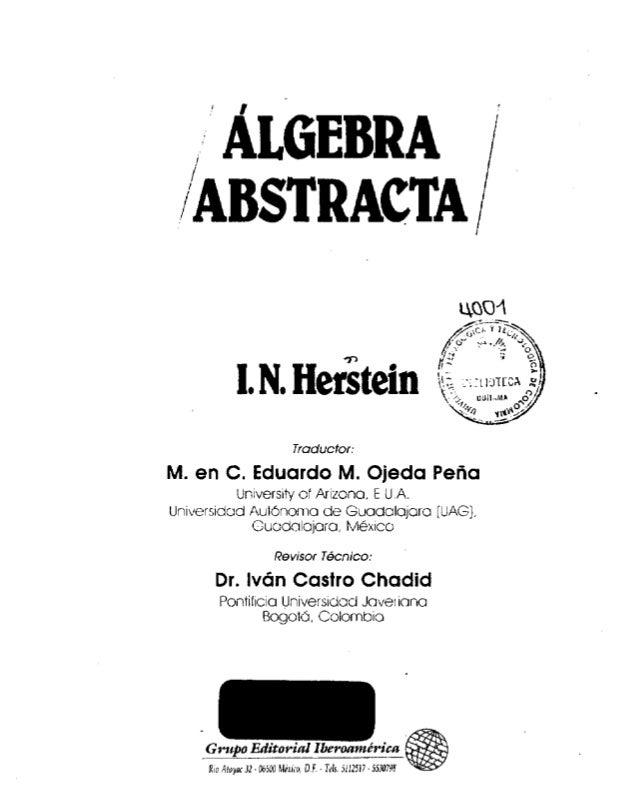 libro algebra abstracta: