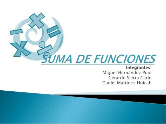 Algebra sumafunciones
