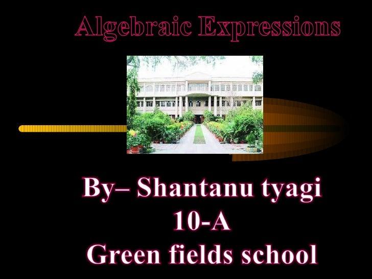 Algebric expression