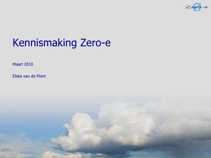 Zero-e; duurzaam transport; bedrijfspresentatie