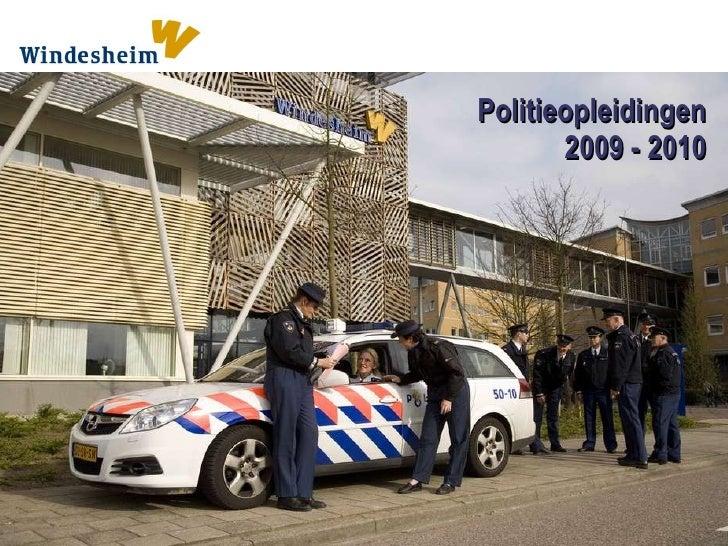 Politieopleidingen 2009 - 2010
