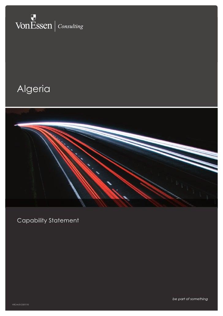 Algeria        Capability Statement     VECALGCS07/10