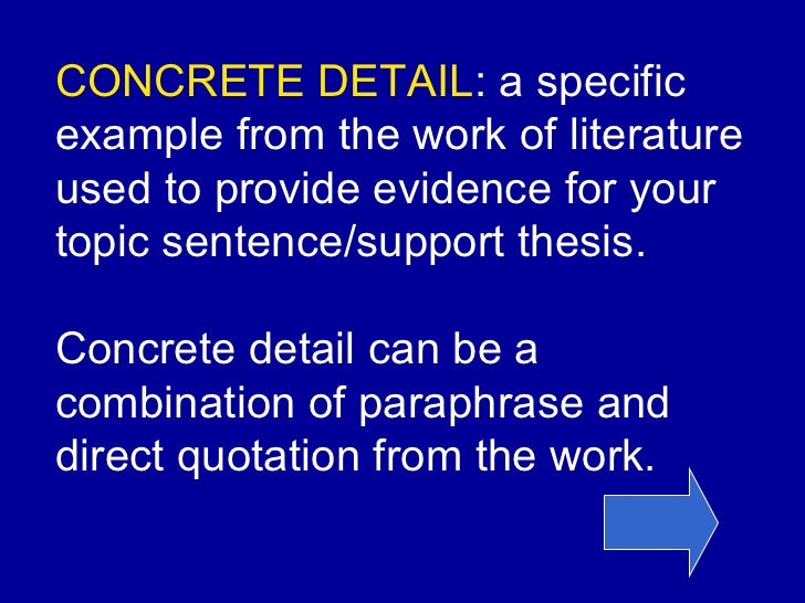 essay concrete detail and commentary Concrete detail and commentary sentence starters for essays lauridsen o magnum mysterium analysis essay related post of concrete detail and commentary.