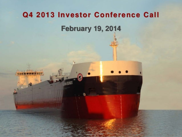 Q4 2013 Investor Conference Call February 19, 2014