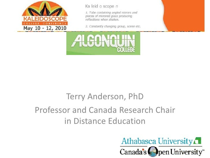 Terry Anderson, PhD<br />Professor and Canada Research Chair in Distance Education<br />