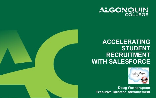 Algonquin College accelerates student recruitment with Salesforce