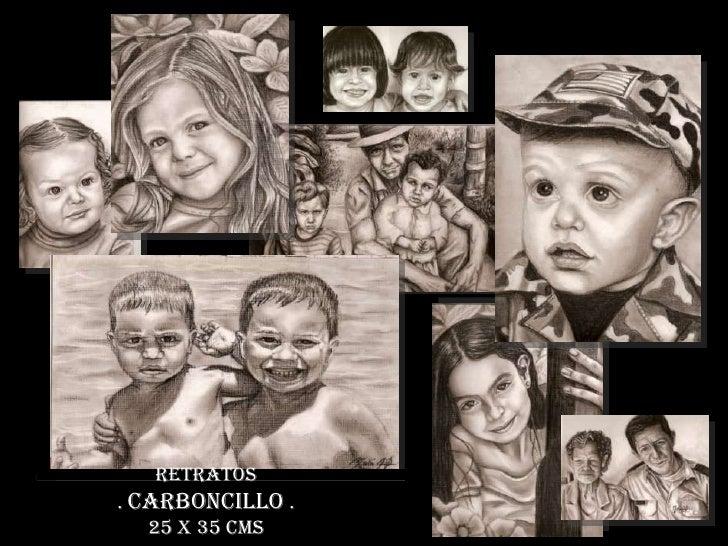 Retratos. Carboncillo .  25 x 35 cms <br />