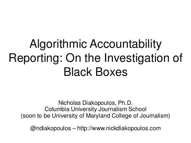 Algorithmic Accountability Reporting | Journalism Interactive 2014