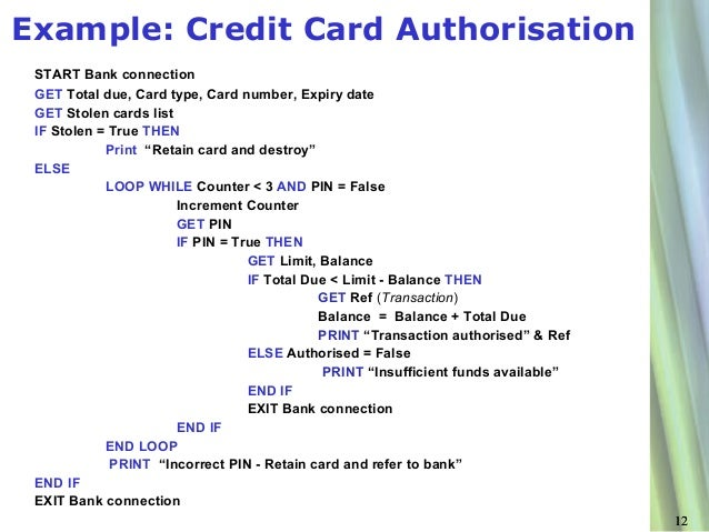Card Number Examples Example Credit Card