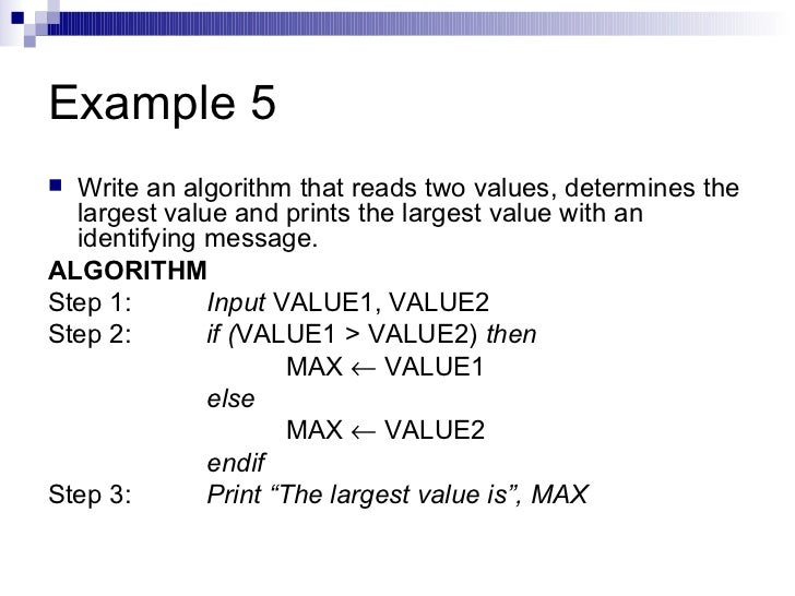 how to write an algorithm javascript