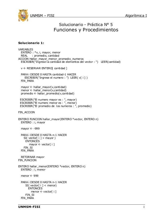 Algoritmica i clase05 practica 5 solucionario