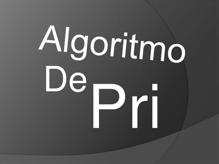 Algoritmo<br />De<br />Prim<br />
