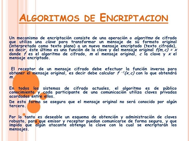 Algoritmos De Encriptacion