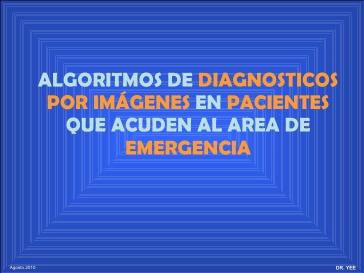 Algoritmos DX Clinico-Imagenologicos