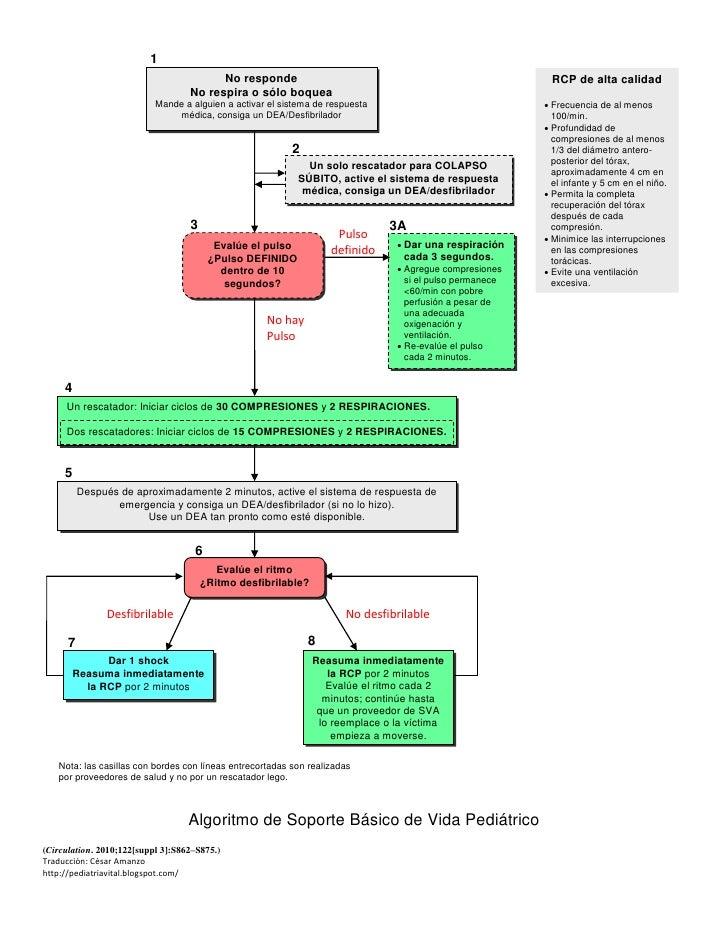 Algoritmo Soporte Básico Pediátrico 2010